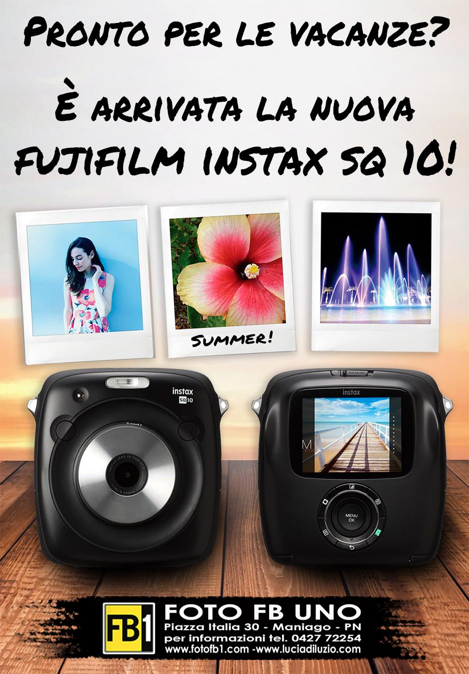 È arrivata la nuova Fujifilm Instax SQ 10